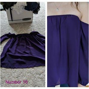 Off the Shoulder, Purple Shirt